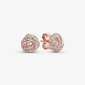 Pandora Shimmering Knot Stud Earrings